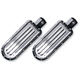 Chrome Finned Passenger Footpegs - C1243-C