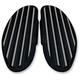 Black Diamond Edge Finned Passenger Floorboards - C1336-D