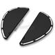 Black Deep Cut Fusion Series Adjustable Passenger Floorboards - 15-419