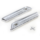 Chrome Dimpled Bag Hinge Covers - C1010-C