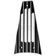 Black Finned Frame Filler Grill - C0040-B