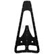 Black Dimpled Frame Filler Grill - C0042-B