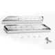 Chrome Saddlebag Latch Delete Plates - C1013-C