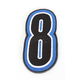 Blue/Black 5 in. Number 8 Patch For Gear Bags - 3550-0245
