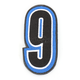 Blue/Black 5 in. Number 9 Patch For Gear Bags - 3550-0246