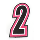Pink/Black 5 in. Number 2 Patch For Gear Bags - 3550-0249