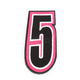 Pink/Black 5 in. Number 5 Patch For Gear Bags - 3550-0252