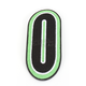 Green/Black 5 in. Number 0 Patch For Gear Bags - 3550-0257