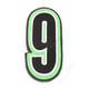 Green/Black 5 in. Number 9 Patch For Gear Bags - 3550-0266