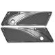 Gloss Black Rapture Elite Saddlebag Latch Covers - EBL-002-R
