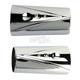 Chrome V-Line Fork Tube Covers - TM-082