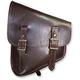 Brown Leather Left-Side Nashty Saddlebag - NOBBRN