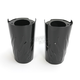 Black Flame Fork Slider Covers - 0411-0131