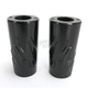 Black Flame Fork Slider Covers - 0411-0133