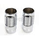 Chrome Cross Cut Fork Slider Covers - TC-962
