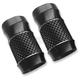 Black Anodized Cross Cut Fork Slider Covers - TC-962B