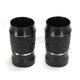 Black Anodized Platinum Cut Fork Slider Covers - TC-963B