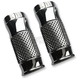 Chrome Cross Cut +2 Fork Slider Covers - TC-964