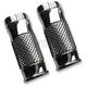 Chrome Cross Cut +2 Fork Slider Covers - TC-964