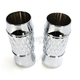 Chrome Platinum Cut +2 Fork Slider Covers - TC-965