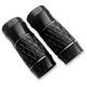 Black  Anodized Platinum Cut +2 Fork Slider Covers - TC-965B