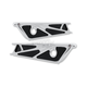 Chrome/Black Wire Frame Saddlebag Latch Cover - 50-248