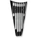 Black w/Diamond Edge Frame Filler Grill - C0026-D