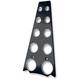 Gloss Black Frame Filler Grill w/Holes - C0028-B