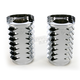 Chrome Retro Fork Boot Slider Covers - 20-035