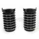 Black Anodized Diamond Cut Retro Fork Boot Slider Covers - 20-039