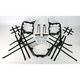 Black Nerf Bars w/Net Heel Guards - H042078BL