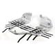 Brushed Aluminum Track Series Nerf Bars - 0530-1206