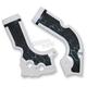 White/Black X-Grip Frame Guards - 2374241035
