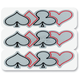 Reflective Poker Outline Sticker - 106603