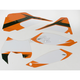 Pre-Cut White Graphic Number Plate Kit - 12-64522