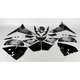 Sportbike Black/White Graphic Kit - 60004