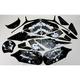 Sportbike Black/White Graphic Kit - 60006