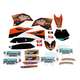 Black 12 Factory KTM Race Team Graphics Kit w/Seat Cover - N405641