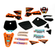 Black 12 Factory KTM Race Team Graphics Kit w/Seat Cover - N405648