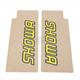Yellow Showa Upper Fork Protectors - N10-1007