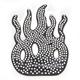 Flame Helmet Bling - PCHBFLAME