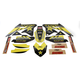 Yellow Suzuki Rockstar Energy Shroud and Complete Graphics Kit - 19-07430