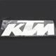 White KTM 3' Die Cut Sticker - 19-94554