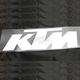 White KTM 1' Die Cut Sticker - 19-94550