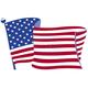 Translucent Waving Flag Windshield Graphic - 220916