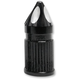Black Anodized Spike valve Stem Cap - SVC-308-ANO-SPK