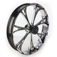 Front Platinum Cut 23 x 3.5 Virtue One-Piece Chrome-Forged Aluminum Wheel - 12237306PVIRBMP