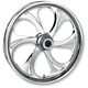 21 in. x 3.5 in. Front Chrome Recoil One-Piece Forged Aluminum Wheel for Models w/o ABS (dual disc) - 21350-9031-105C