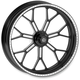 19 in. x 2.15 in. Front Contrast Cut Ops Delmar One-Piece Aluminum Wheel for Models w/o ABS - 12107903RDELSBM