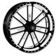 21 in. x 2.15 in. Slam One-Piece Contrast-Cut Aluminum Wheel for Models w/o ABS - 12027106SLMJBM